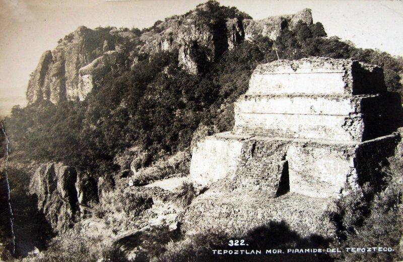 PIRAMIDE DEL TEPOZTECO Hacia 1945