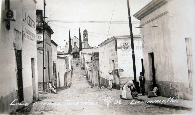Fotos de Cuernavaca, Morelos, México: CALLE TEPETATES  Hacia 1945