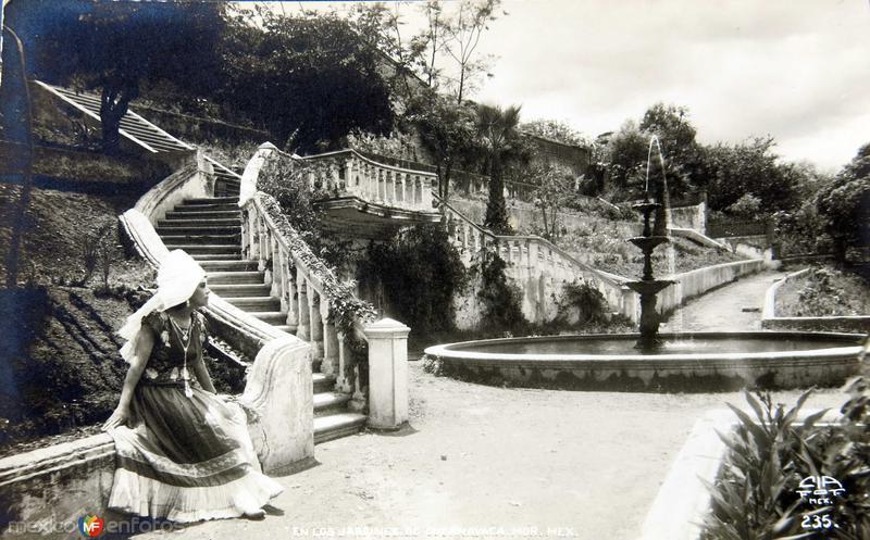 JARDINES Y FUENTE TIPICA Hacia 1945