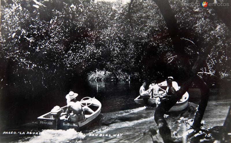 PASEO EN LANCHA Hacia 1945