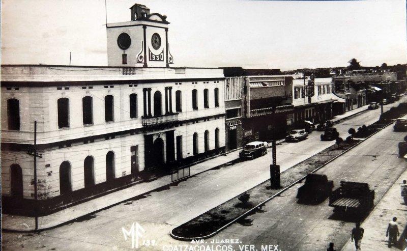 Fotos de Coatzacoalcos, Veracruz, M�xico: AVENIDA JUAREZ  PANORAMA Hacia 1945