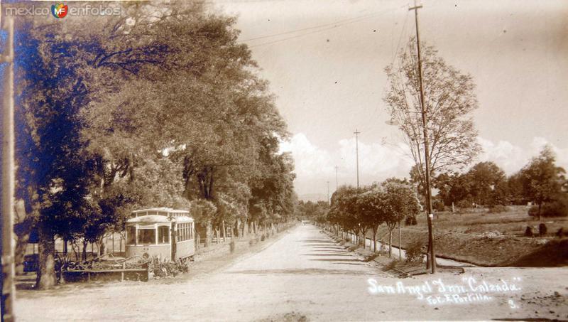 CALZADA SAN ANGEL INN Hacia 1910