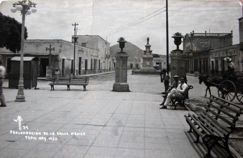 PLOLONGACION DE LA CALLE MEXICO Hacia 1945