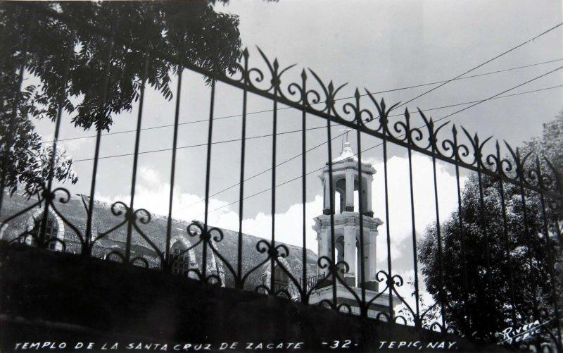 TEMPLO DE SANTA CRUZ DEL ZACATE Hacia 1945