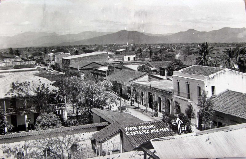 Fotos de Ixtepec, Oaxaca, México: PANORAMA Hacia 1945