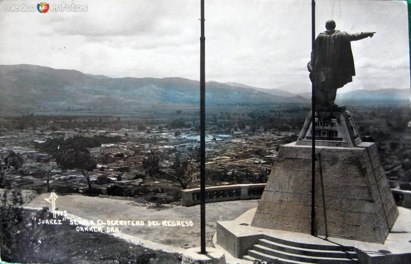 MTO. A JUAREZ PAISAJE PANORAMA Hacia 1945