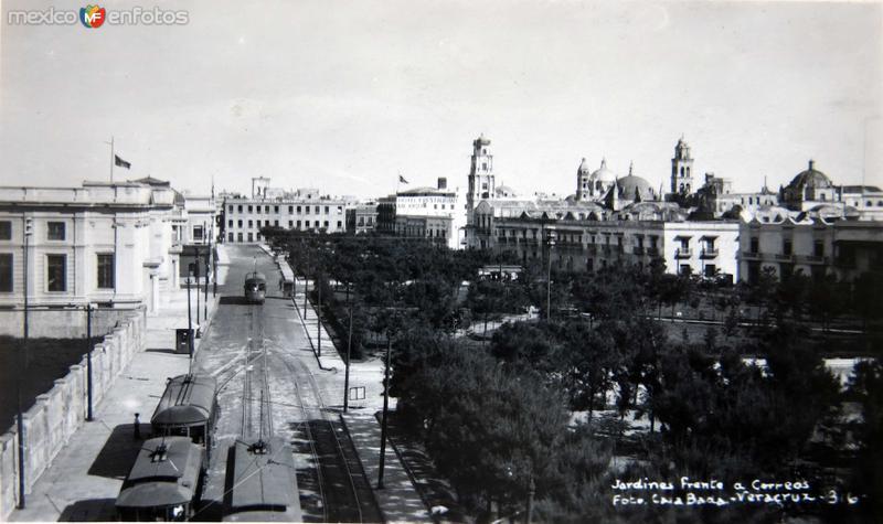 Fotos de Veracruz, Veracruz, México: JARDINES Y PLAZA  Hacia 1940
