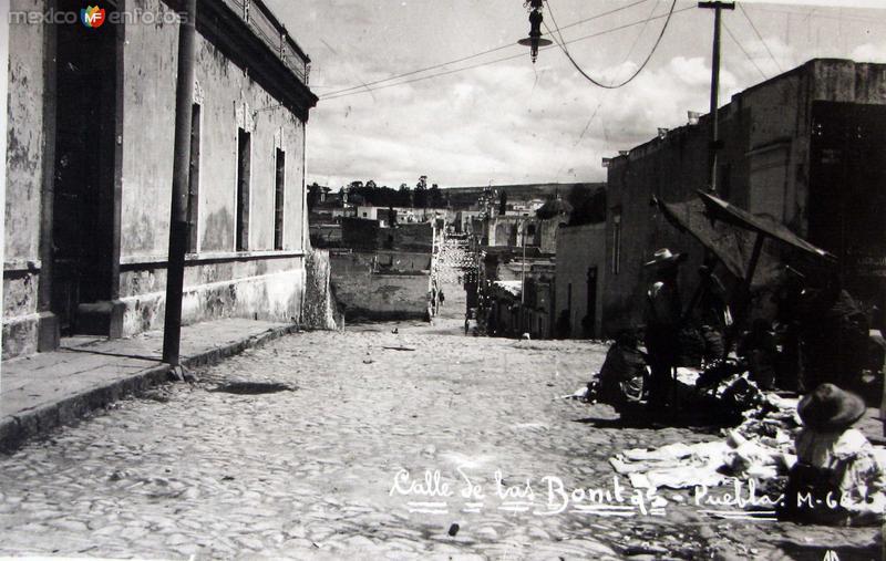 CALLE DE LAS BONITAS PANORAMA Hacia 1940