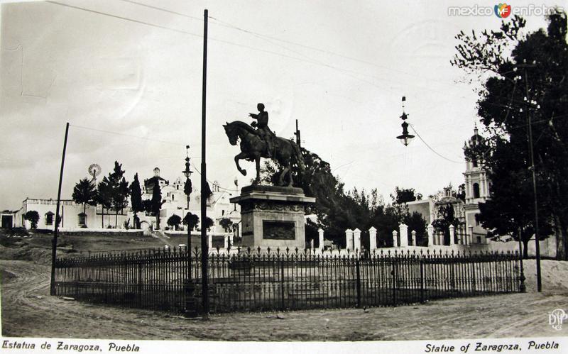 MONUMENTO A ZARAGOZA Hacia 1919