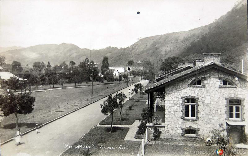 Fotos de Necaxa, Puebla, México: LA MESA Hacia 1930