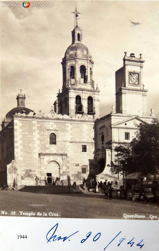 PANORAMA E IGLESIA TEMPLO DE LA CRUZ Hacia 1945