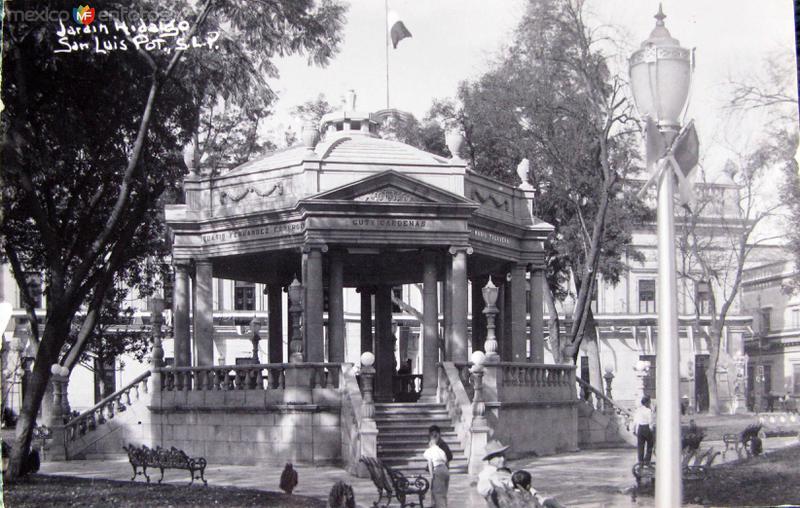 JARDIN DE HIDALGO Hacia 1945