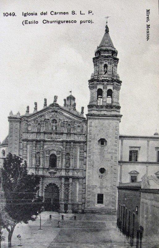 IGLESIA DEL CARMEN por el fotografo FELIX MIRET Hacia 1909