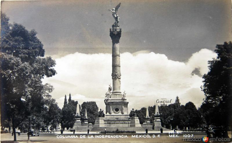 LA Columna de Indepencia Hacia 1940