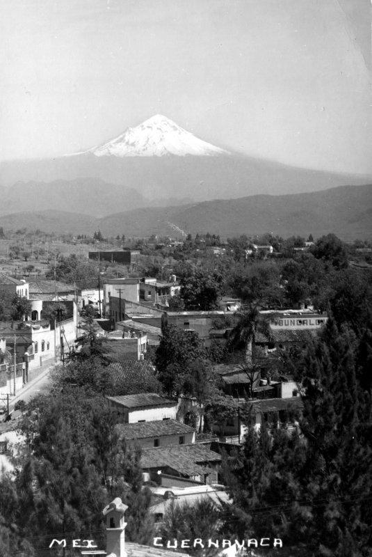 Vista del Popocatépetl desde Cuernavaca