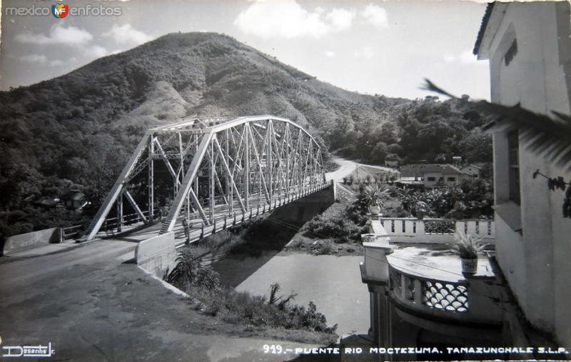 PUENTE RIO MOCTEZUMA hacia 1945