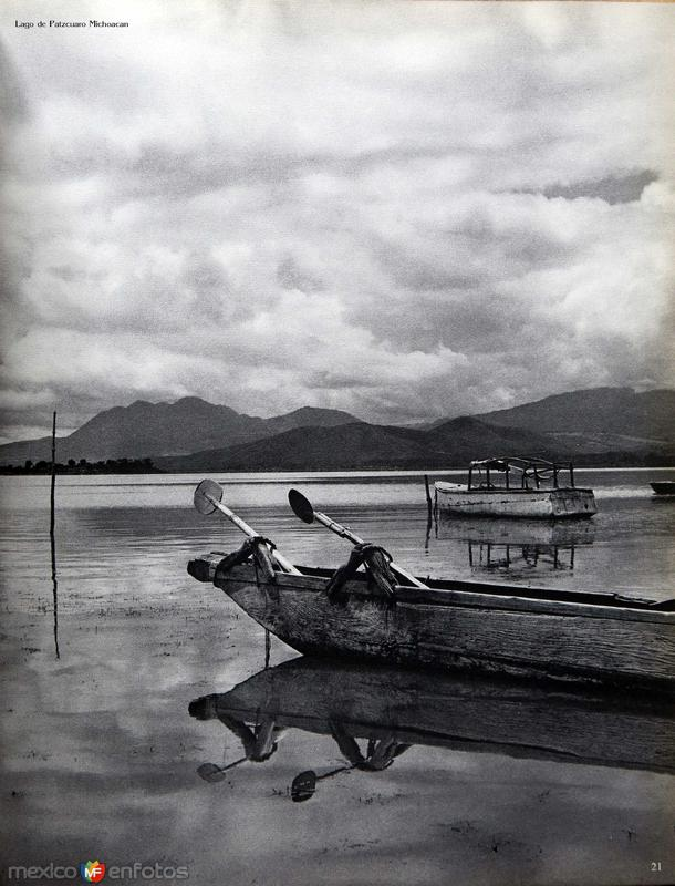 Lago de Patzcuaro Michoacan hacia 1940