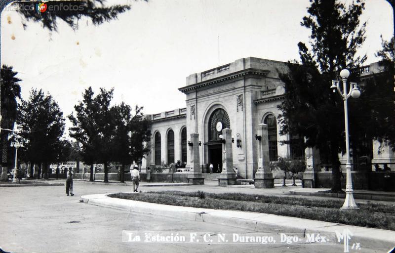ESTACION FERROVIARIA Hacia 1945