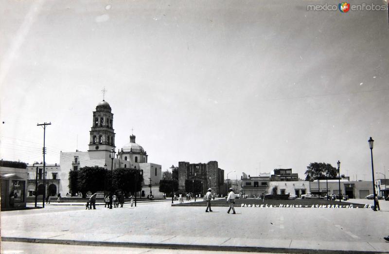 Fotos de Acámbaro, Guanajuato, México: PLAZUELA HIDALGO Circa 1945