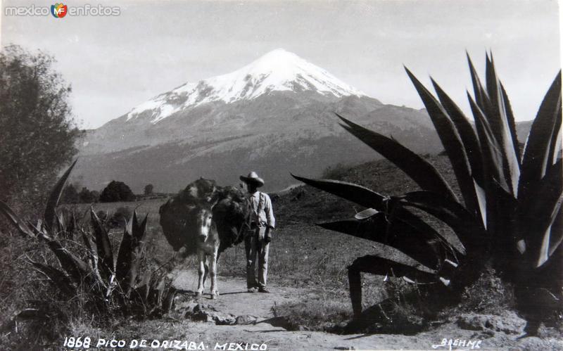 Fotos de Pico de Orizaba, Veracruz, México: EL PICO por el fotografo HUGO BREHME circa 1930