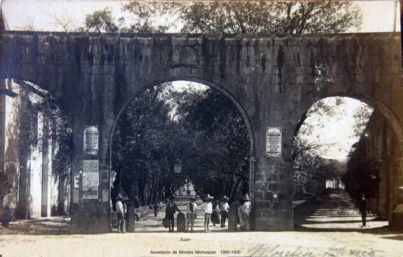 Acueducto de Morelia Michoacan Circa 1900-1920