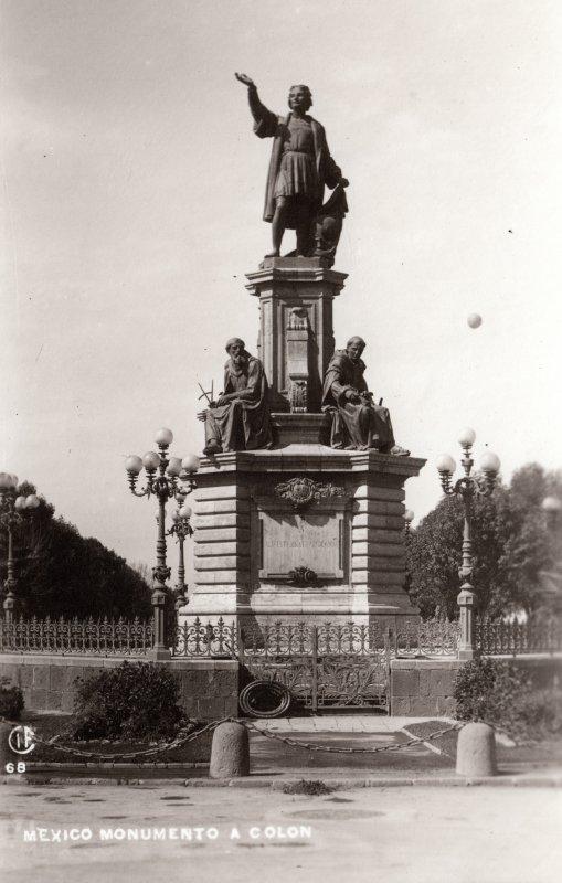 Monumento a Colón, en el Paseo de la Reforma