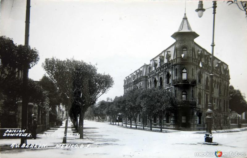 AVENIDA BERLIN Circa 1930-1950