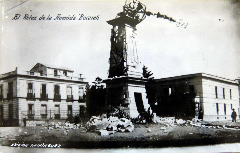 RELOJ BOMBARDEADO DURANTE LA DECENA TRAGICA (1913)