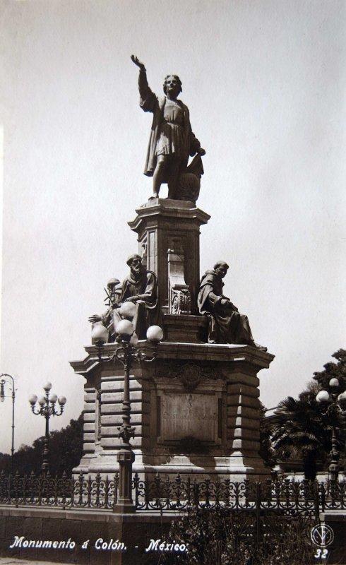 MONUMENTO A COLON Mexico D F circa 1920-1930