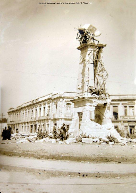 El Reloj Chino, bombardeado durante la Decena Trágica (1913)