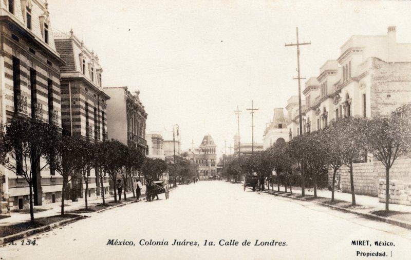 1a. Calle de Londres, en la Colonia Juárez