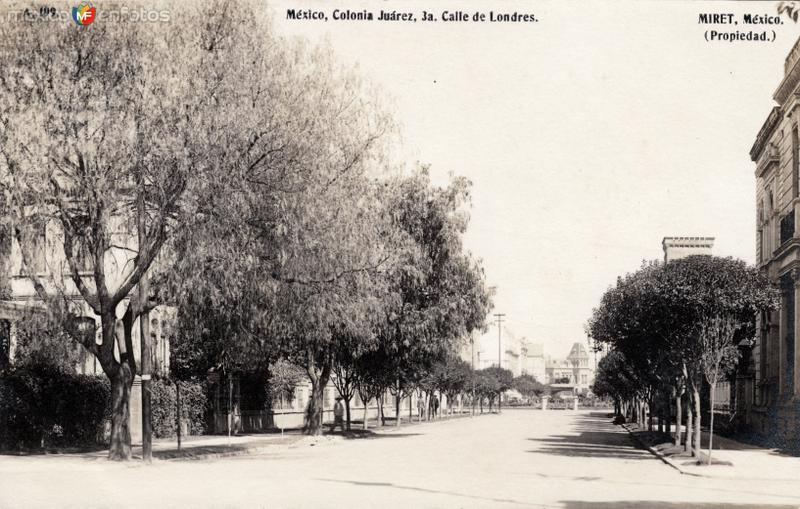 3a. Calle de Londres, en la colonia Juárez