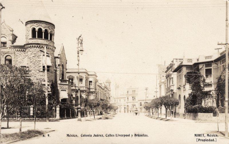 Calles de Liverpool y Bruselas, en la Colonia Juárez