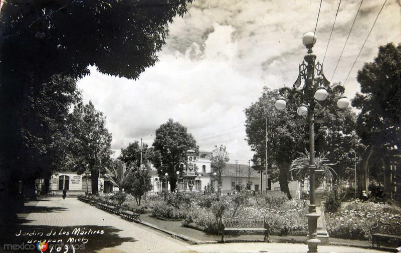 JARDIN DE LOS MARTIRES hacia 1930-1950