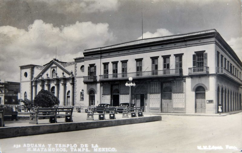 ADUANA Y TEMPLO Circa 1930-1950