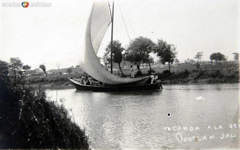 CANOA A LA DERIVA Circa 1910-1930