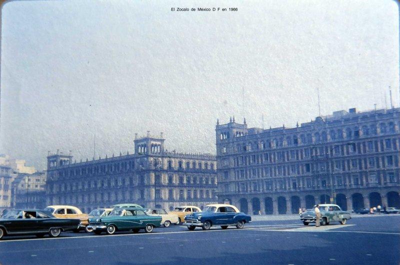 El Zocalo de Mexico D F en 1966