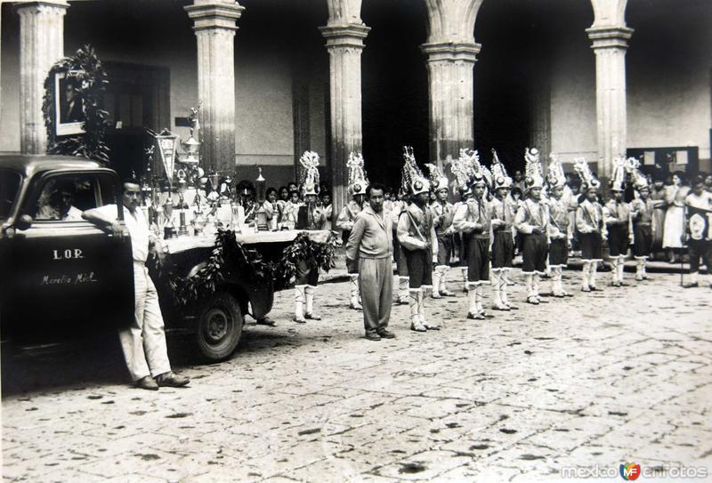 Evento Civico en Morelia Michoacan Circa 1930-1950