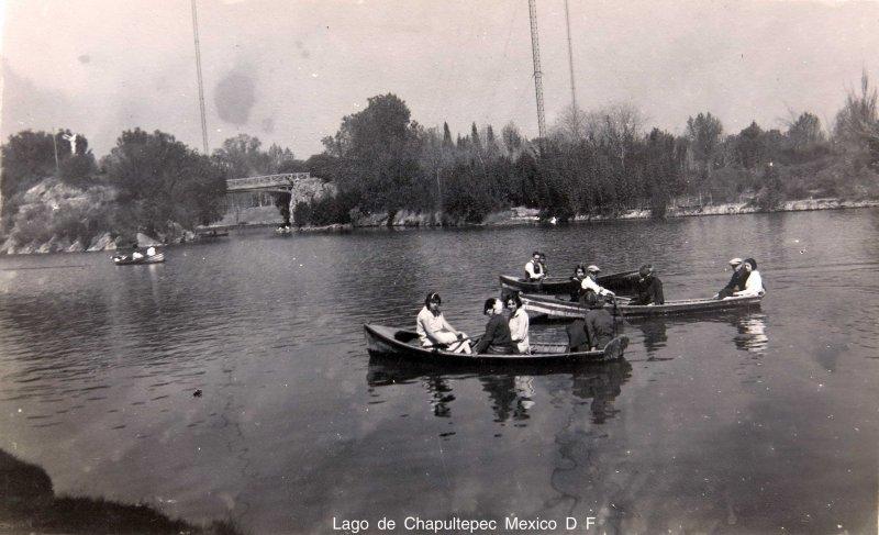Lago de Chapultepec Mexico D F circa 1930-1950