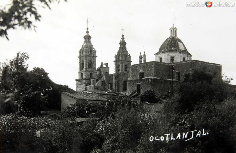 Fotos de Ocotlán, Jalisco, México: LA IGLESIA PANORAMA Circa 1930-1950