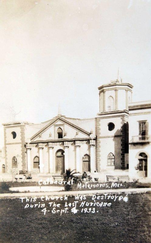 IGLESIA DESTRUIDA DURANTE EL HURACAN DEL 4 DE SEP. DE 1933 Circa 1933