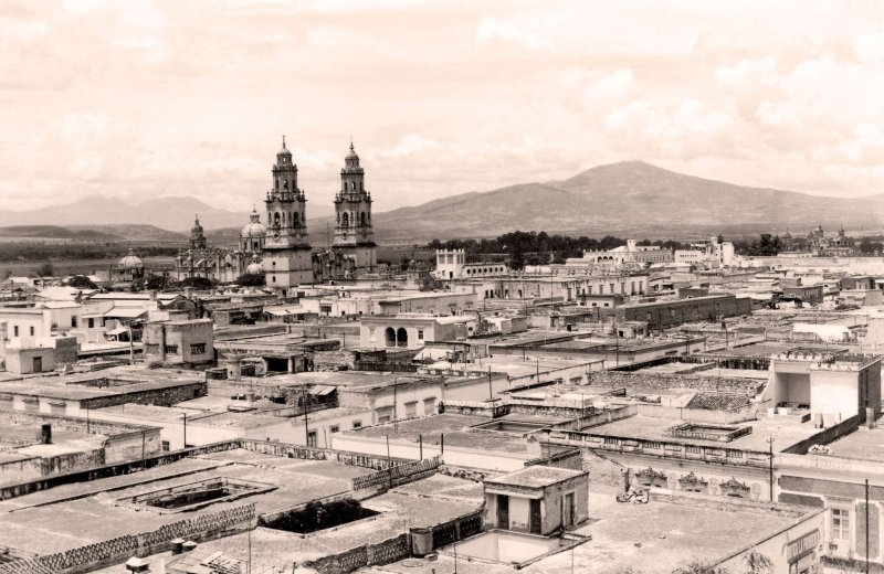 Morelia, vista panorámica, 1928