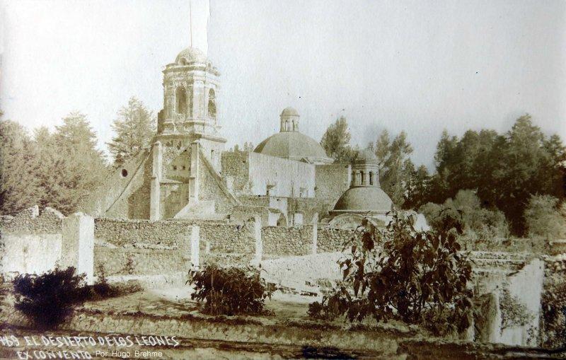 EL DESIERTODE LOS LEONES EXCONVENTO por el fotografo Hugo Brehme circa 1930