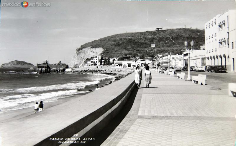 Paseo Olas altas Panorama circa 1930-1950