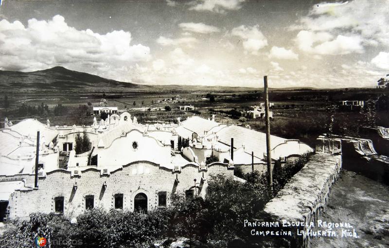 PANORAMA Y ESCUELA REGIONAL Circa 1930-1950