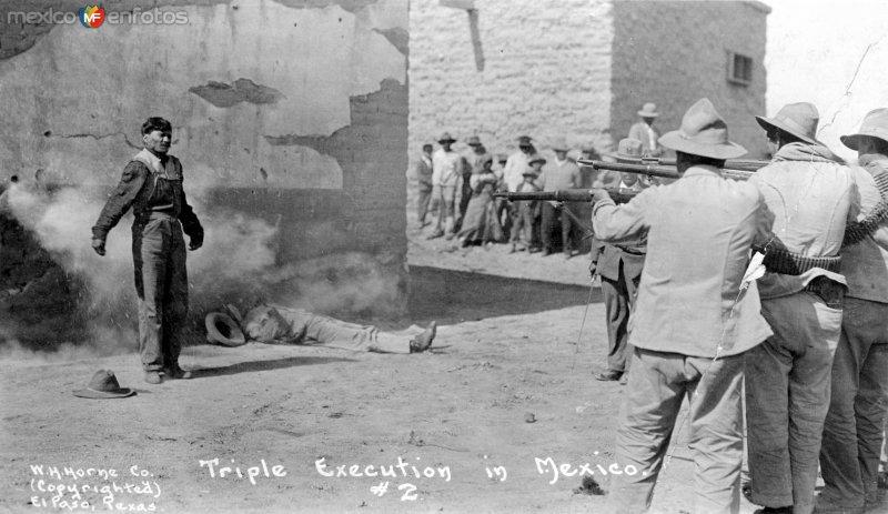 Triple fusilamiento durante la Revolución Mexicana