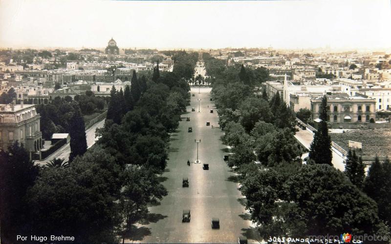 PANORAMA desde la columna de la Independencia Por Hugo Brehme circa 1930