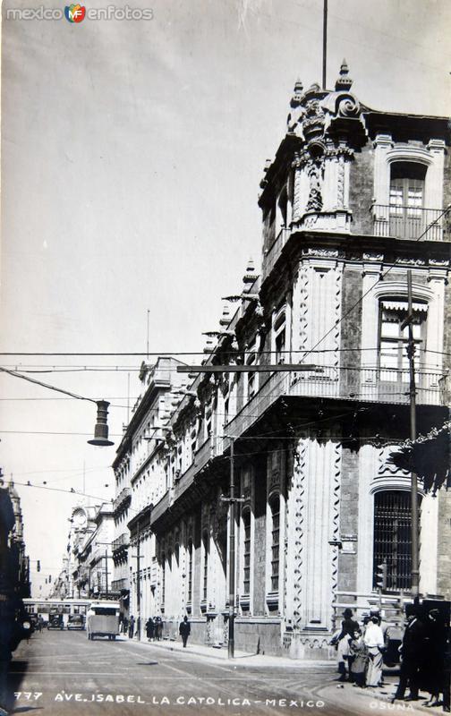 AVENIDA ISABEL LA CATOLICA Circa 1930-1950