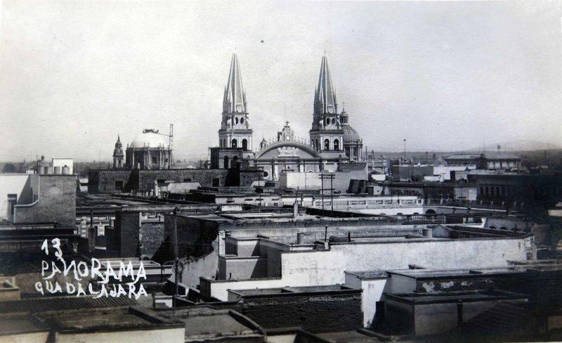 Panorama Guadalajara Jalisco hacia 1900-1920