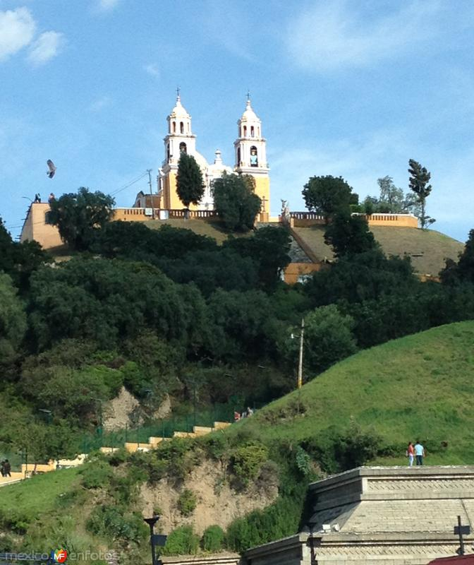 Templo de los Remedios y pirámide de Cholula. Agosto/2015